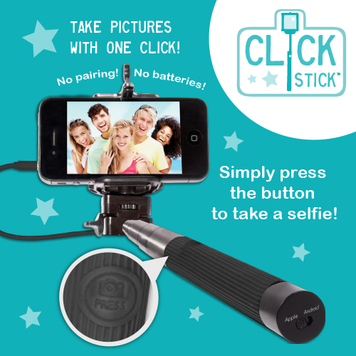 telescopic click stick selfie stick gadgets. Black Bedroom Furniture Sets. Home Design Ideas