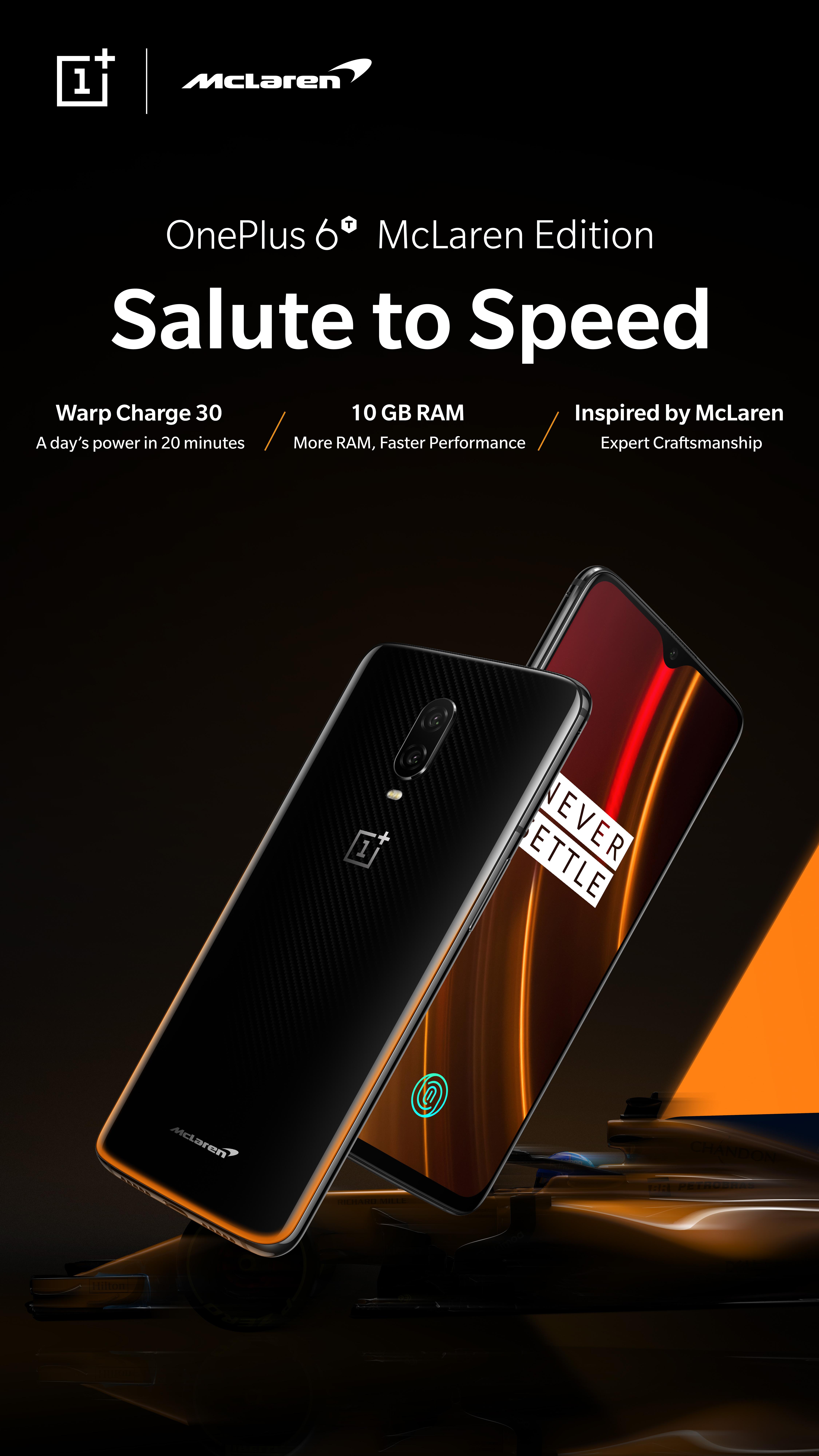 OnePlus 6T McLaren Edition   Dual-Sim   10GB   256GB - Mobiltelefon ... bcfb831b27188