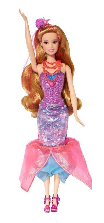 ... prinsessan Alexas nya vän upplever en fantastisk förvandling.  Sjöjungfrudockans festkjol omvandlas till en sjöjungfrustjärt med fenor när  du drar i den. db215a440d67e