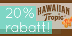 20% Rabatt p� Hawaiian Tropic