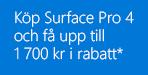 Microsoft Surface Pro 4 Rabattkampanj