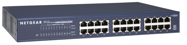 Netgear JGS524 v2 ProSafe - 24-Port 10/100/1000 Mbps Gigabit Switch / Rackmount / Unmanaged