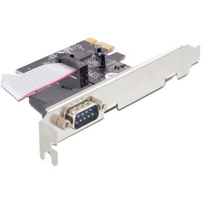 Delock PCI-Express x1 kort med 1xSerieport, RS-232, DB9 hane, Oxford Chipset, lågprofil täckplåt