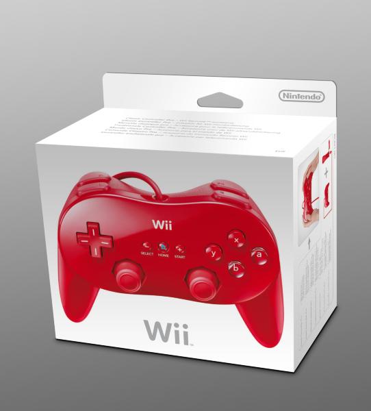 Nintendo Wii - Classic Controller Pro - Handkontroll (Röd)