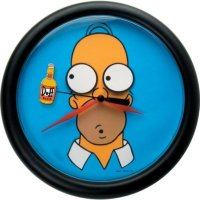 The Simpsons: Homer Rotating Duff Bottle Wall Clock