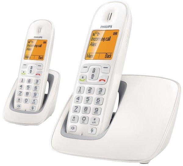 philips cd290 duo tr dl s dect telefon vit mobilt. Black Bedroom Furniture Sets. Home Design Ideas