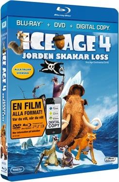 Ice Age 4: Jorden skakar loss (BD + DVD) (2012)  hos WEBHALLEN.com