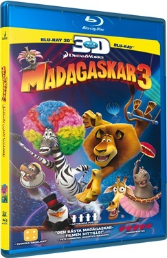 Madagaskar 3 (3D + 2D + DVD) (2012)  hos WEBHALLEN.com