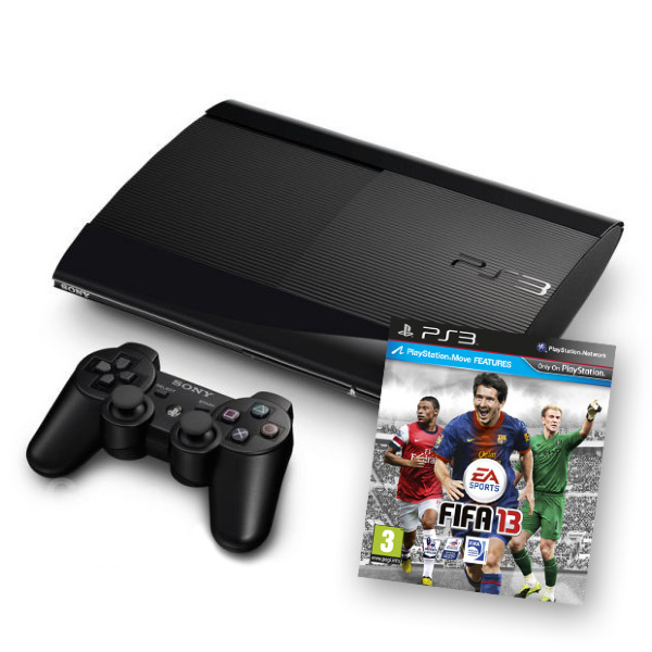 Playstation 3 Basenhet (PSthree) - Super Slim 500 GB - Fifa 13 Bundle