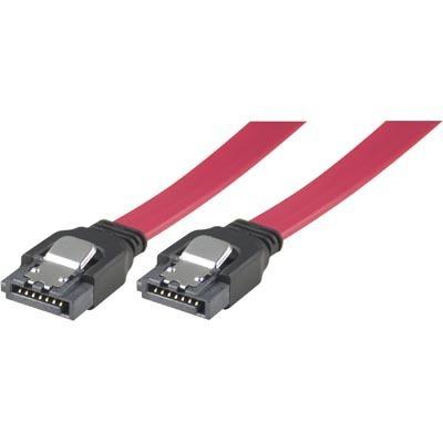 Deltaco Serial ATA Kabel lås-clips 0,5m (Raka Kontakter) (SATA)