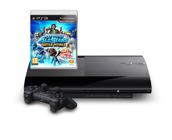 Playstation 3 Basenhet (PSthree) - Super Slim 500GB - All Stars Battle Royal Bundle