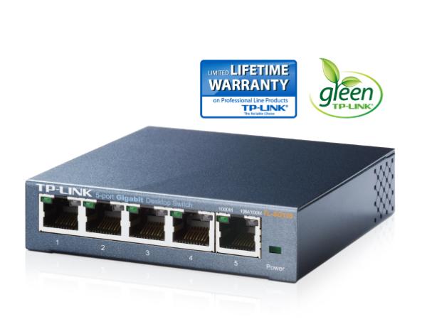 TP-Link TL-SG105 - 5-Port / Gigabit Switch / Unmanaged