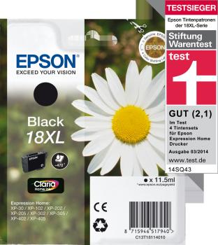 Epson 18XL Claria Home - Svart - 470 sidor