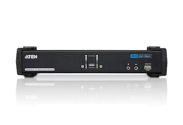 ATEN KVM-switch, 1 konsol styr 2 datorer,DVI DL/US