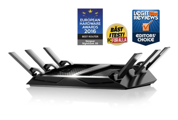 Netgear R8000 Nighthawk X6 – AC3200 / Tri-Band / Gigabit Ethernet