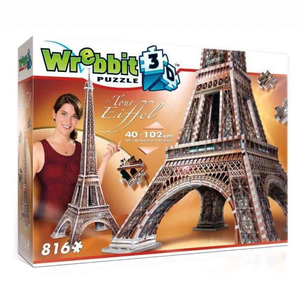 Wrebbit 3D-pussel - Eiffeltornet (816 bitar)