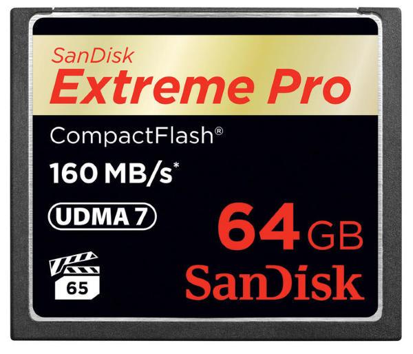 SanDisk Extreme Pro CF 160MB/s 64GB