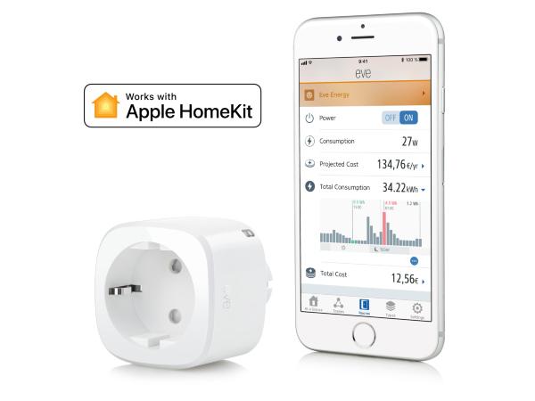 Eve Energy - Smart Plug & Energimätare fungerar med Apple HomeKit