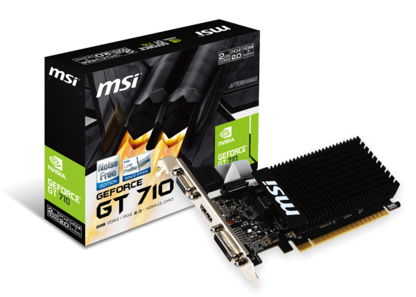 MSI GeForce GT 710 2GB Passive Cooling (GT 710 2GD3H LP)