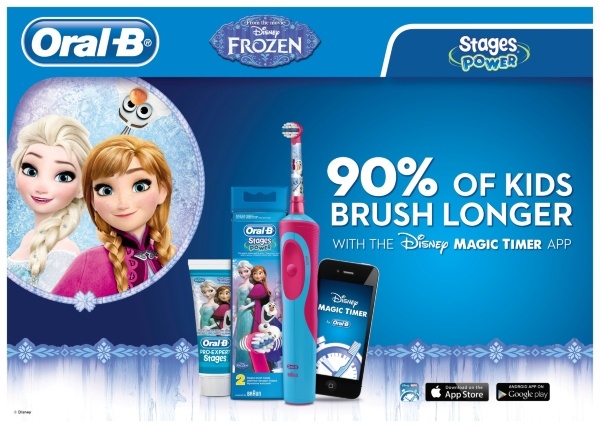 Oral-B Vitality D12 Stages Power Frozen Eltandborste - Frost