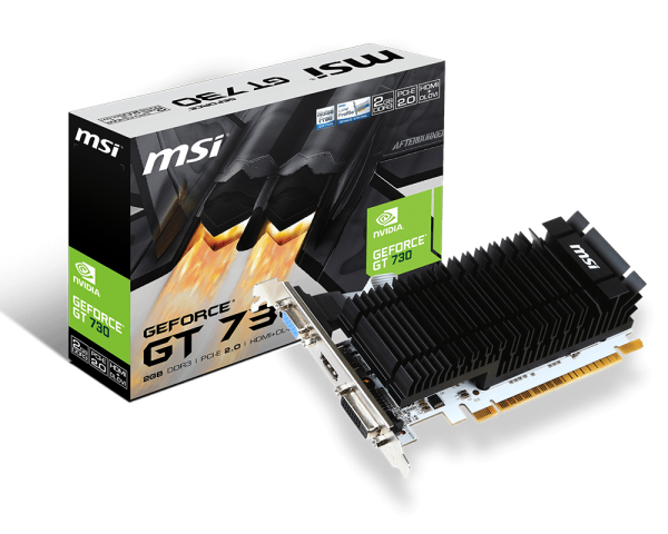 MSI GeForce GT 730 2GB (N730K-2GD3H/LP)