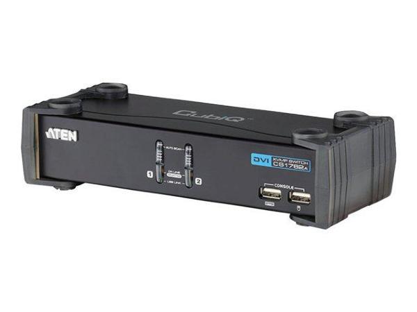 ATEN KVM-switch, 1 konsol styr 2 datorer, DVI/USB, 2 extra USB-portar