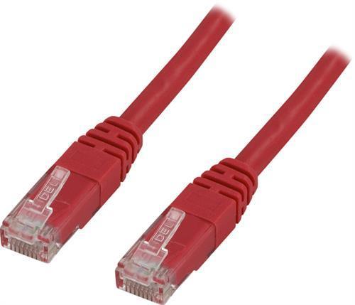 Deltaco UTP Cat6 Nätverkskabel / 0.3m – Röd
