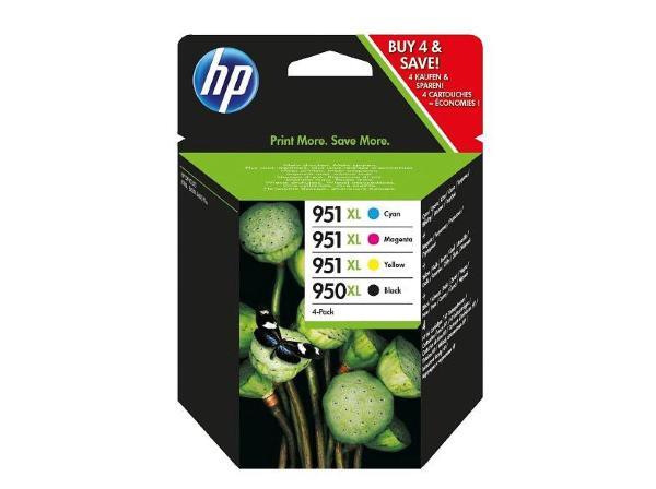 HP 950XL (Svart) + 951XL (Cyan/Magenta/Gul)