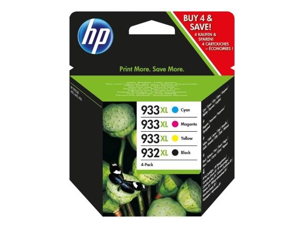 HP 932XL Svart - 1000 sidor + CMY - 825 sidor