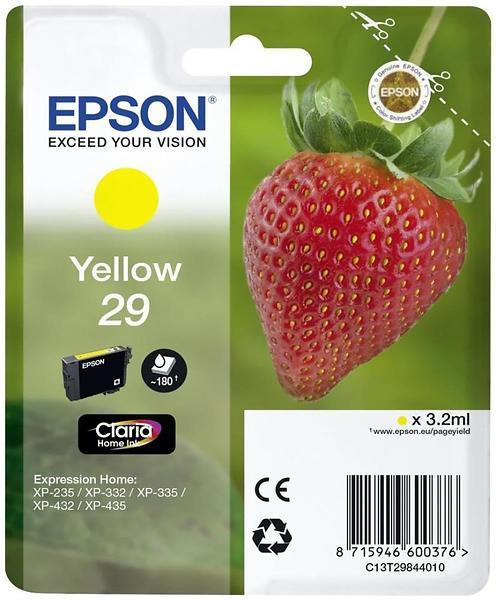 Epson 29 Yellow Claria Home Ink