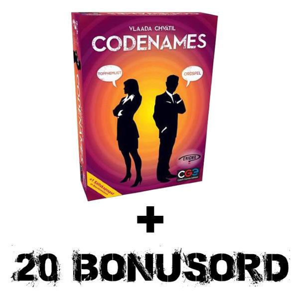 Codenames + Webhallen bonuskort (Svensk utgåva)