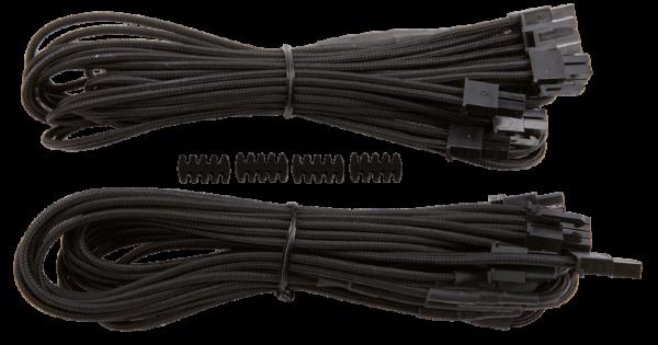 Corsair Individually Sleeved PCIe Cables Dual / RMi RMx - Svart