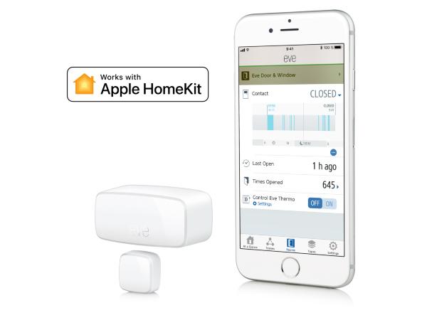Eve Door & Window fungerar med Apple HomeKit