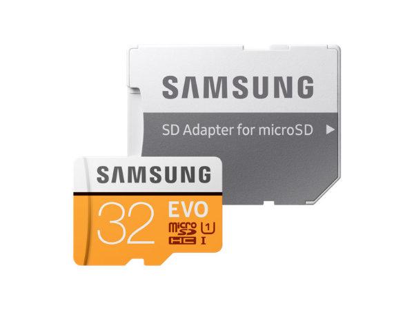 Samsung microSD EVO – 32GB / Class 10 / UHS-1 / Adapter