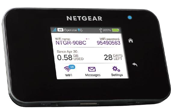 Netgear AirCard 810 -Mobilt Wi-Fi/ 4G Modem Router/ 600Mbps/ Cat11 LTE(Fyndvara Klass 2)