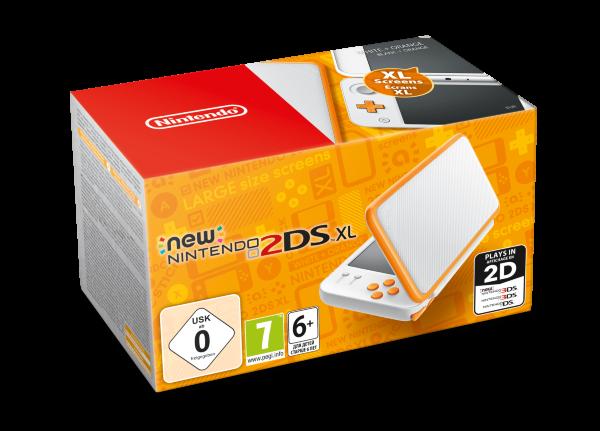 New Nintendo 2DS XL Konsol White + Orange