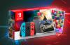 Nintendo Switch Blue / Red Basenhet Mario Kart 8 & Zelda BotW Bundle