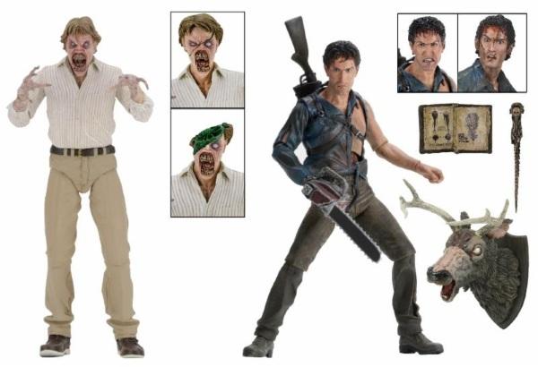 Evil Dead 2 Action Figures 2-Pack Hero Ash & Evil Ed 30th Anniversary 18 cm
