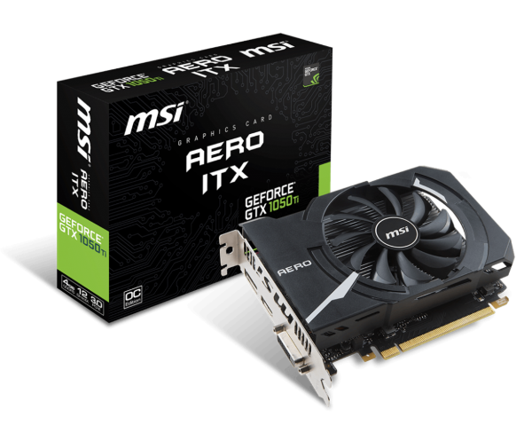 MSI GeForce GTX 1050 Ti AERO ITX 4G OCV1 (GEFORCE GTX 1050 TI AERO ITX 4G OCV1)