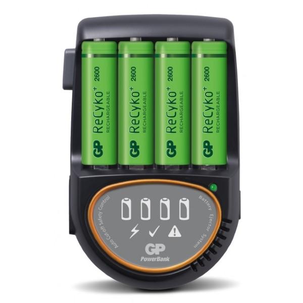 GP Batteries GP PowerBank H500 12V/230V kabel + 4st AA R6 2600mAh