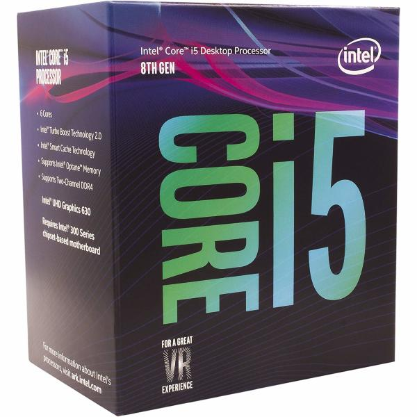 Intel Core i5-8400 - 6 trådar / 2.8GHz (3,8Ghz Turbo) / 9MB / Socket 1151