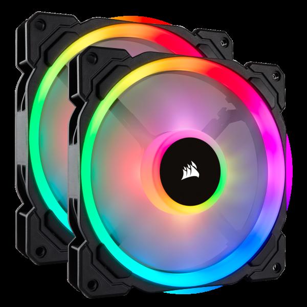 Corsair LL140 / iCUE-RGB / PWM / 140mm / 2-pack - Startkit