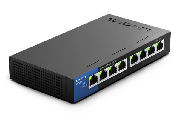 Linksys LGS108 - 8-Port / Gigabit Switch / Unmanaged