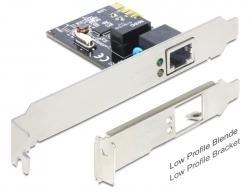 Delock Nätverkskort / 10/100/1000Mbps (PCIe)