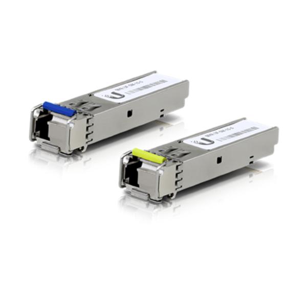 Ubiquiti Single-Mode 1GB SFP LC connector 2 pack, Single mode, 1Gbps, 3km, WDM