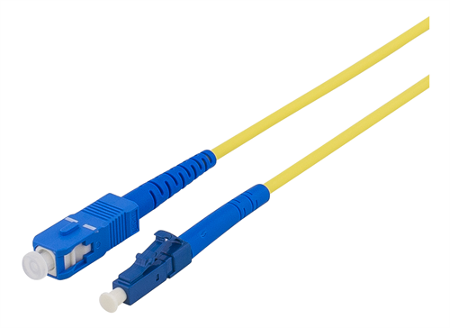Fiberkablage, LC - SC, 9/125, OS1/2, singlemode, LSZH, 3m