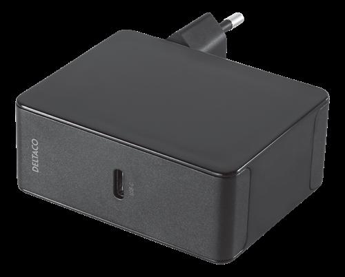 Deltaco USB-C PD laddare 45W - Svart