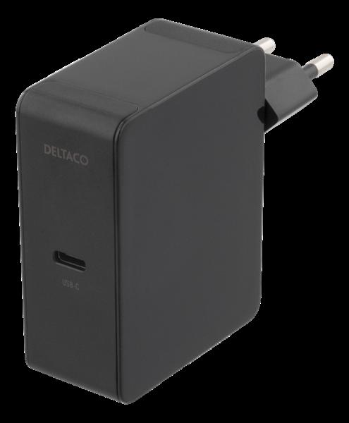 Deltaco USB-C PD laddare 60W - Svart