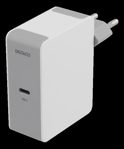 Deltaco USB-C PD laddare 60W - Vit