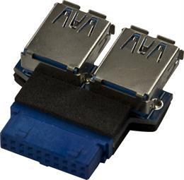 Delock intern adapter för USB 3.0 till 2xUSB 3.0 A ho